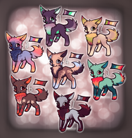 Wolfie Adopts by PeachyKat