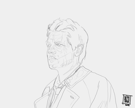 Castiel lineart by CaptainPedroH