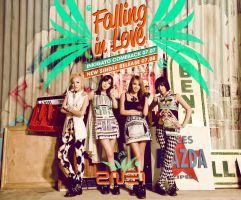 2NE1 Falling in Love by LuannaMaria