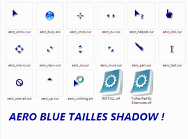 Aero Blue Tailless Cursors by Edercoree