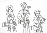 SNK/TG : How hard can it be? (Line Sketch) by Tecna-assassin13
