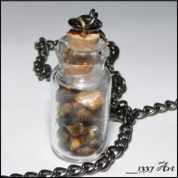 Brown Tiger Eye Necklace by 1337-Art