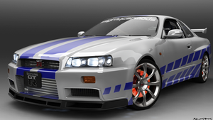2 Fast 2 Furious - R34 by AlxFX