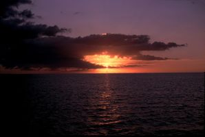 Sunset, South Pacific by katu01