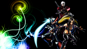 UMVC3 Team Wallpapers: Dante, Zero, and X-23 by bxb-minamimoto