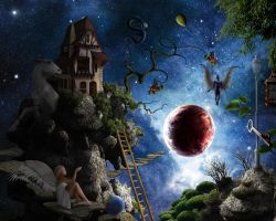 A Dreamer's Place in Space by jesus-at-art
