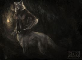 Wolftaur in the cave. by tar101