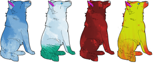 wolf adoptables 3 CLOSED by QueenYami