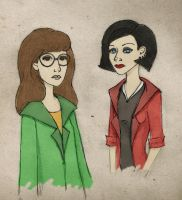 Daria and Jane by Frankindonut