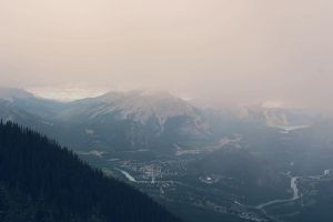 From the top of Sulphur Mountain by AnanyaArts