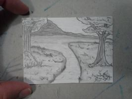 ACEO #8 scenery series by ShelandryStudio