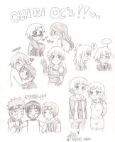 Chibi Oc sketches lol by shock777
