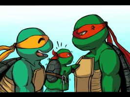Mikey, Raph... and Raph? by LeonStar123