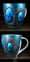 Handpainted Robot Cup by NeverlandJewelry