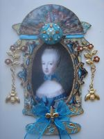 Blue Marie Antoinette Urn ATC by ArtfullyMusing