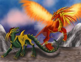 Duelling Dragons by sam241