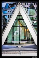 London - Swiss Re tower reflection by Seb-Photos