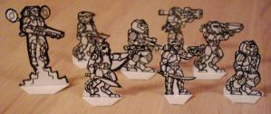 Traveller Paper Miniatures by Scarecrovv