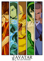 AVATAR: The OG Squad by Kaku-Mei