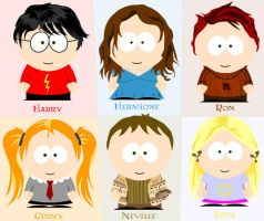 Harry Potter South Park by ehrehrere