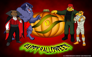 GEP Halloween Wallpaper by BennytheBeast