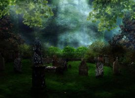 Graveyard Bg by Moonglowlilly