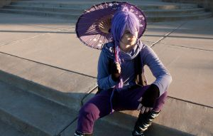 Vocaloid: Sitting Eggplant by JoiFuLStudios
