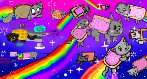 Nyan Cat Madness by valgal3000