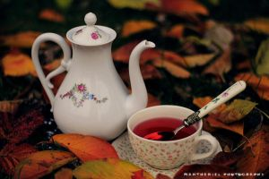 Tea in the autumn melancholy by LucreciaMortishia