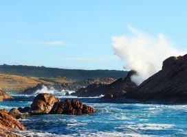 Canal Rocks Sea Explosions by Squiddgee7734