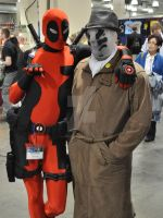 Deadpool and Rorschach by Laughingman02