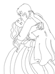 anime kissing coloring pages - anime couple draw kiss love sugar hot girls wallpaper