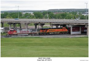 BNSF 639 + 5998 by hunter1828