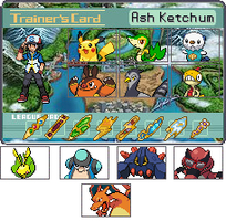Ash Isshu Trainer Card by TPPR10