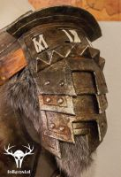 Skyrim Banded Iron Armor - pauldron left by Folkenstal