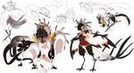 Myo Birdfolk entry 2 other forms completed by Dragonpunk15