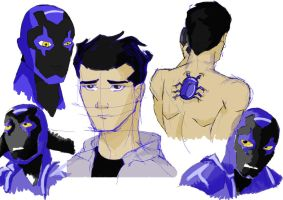 Blue Beetle- Jaime Reyes sketches by Sarcasticyetsexy