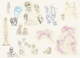 Character sketches by croovman