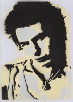 Sid Vicious stencil by punks