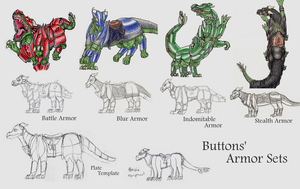 Buttons Armor Concepts by rockingyourstar
