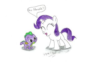 Spike and Filly Rarity by UlyssesGrant