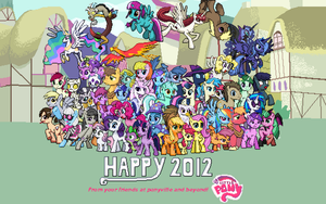 Happy 2012 from Ponyville by DMN666