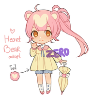 Heart Bear adoptable CLOSED by ZeroLifePoints