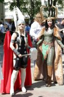 Loki and Thor. Fem versions by Asterateya