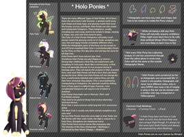Holo-Pony Species Reference Sheet by Minigini