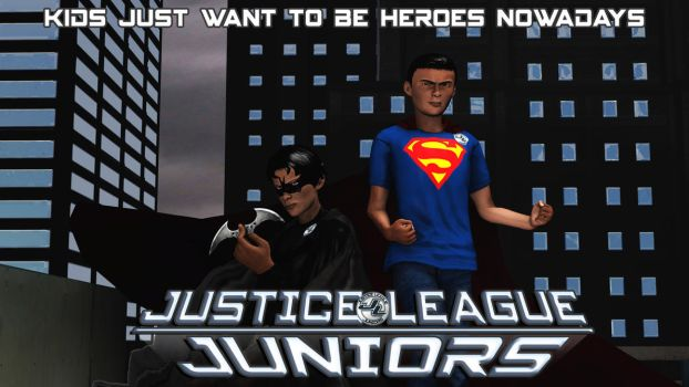 Justice League Juniors by shrunkenlover