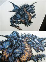 Final Fantasy 6 Dragon bead sprite by 8bitcraft