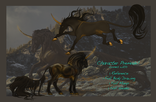 Premade Character Package! Ends: 2/13 by THE-WEATHERED-RAVEN