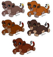 Cubs from B and G - CLOSED - by Soufroma