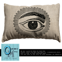 Accent Pillow w/ eye by obsessed-much